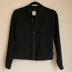 Halogen black short jacket XS petite